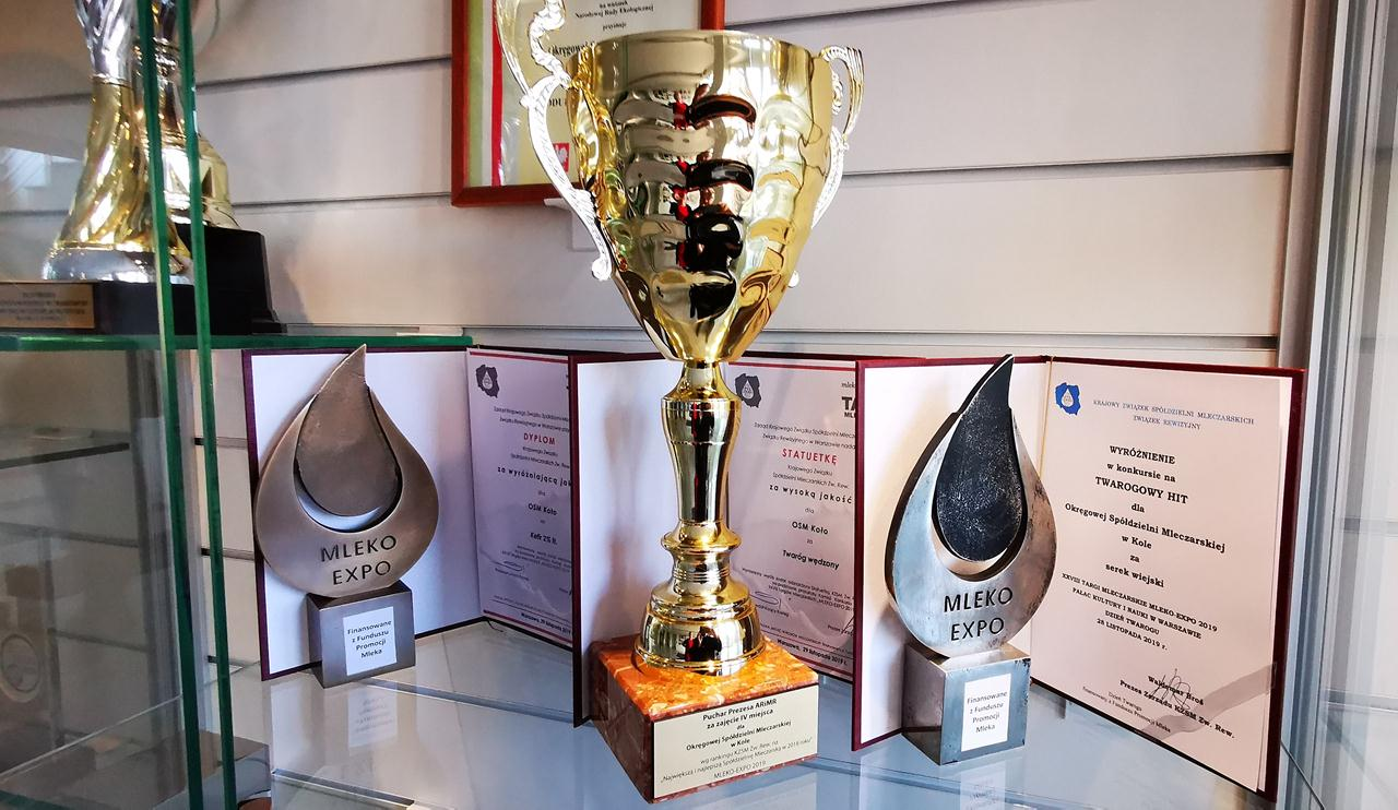 Liczne nagrody dla OSM Koło na Targach Mleczarskich MLEKO EXPO 2019