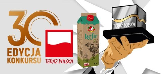 """Nasz Kefir naturalny 1 l. nagrodzony godłem promocyjnym """"Teraz Polska"""""""