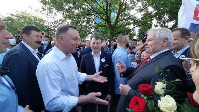 Prezydent RP Andrzej Duda z wizytą w Okręgowej Spółdzielni Mleczarskiej w Kole