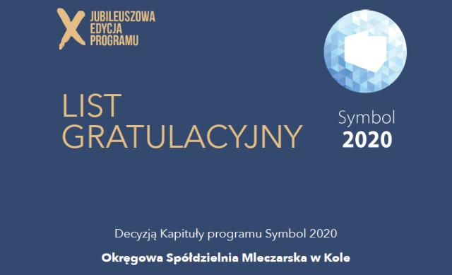 Symbol Jakości Wyrobów Mleczarskich 2020 dla OSM w Kole